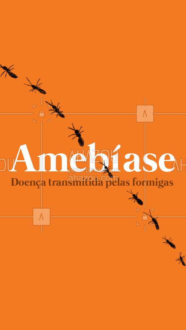 Amebíase é uma doença transmitida pelas formigas. Com os seguintes sintomas: diarreia dolorosa com perda de sangue. Cuidado com os alimentos abertos. Qualquer migalha é um banquete para formigas. Certifique-se de que as pias da cozinha e do banheiro estejam sempre secas. E principalmente, entre em contato conosco para receber assistência especializada em controle de pragas!  #AhazouServiços #dicas #doencas #formigas #AhazouServiços
