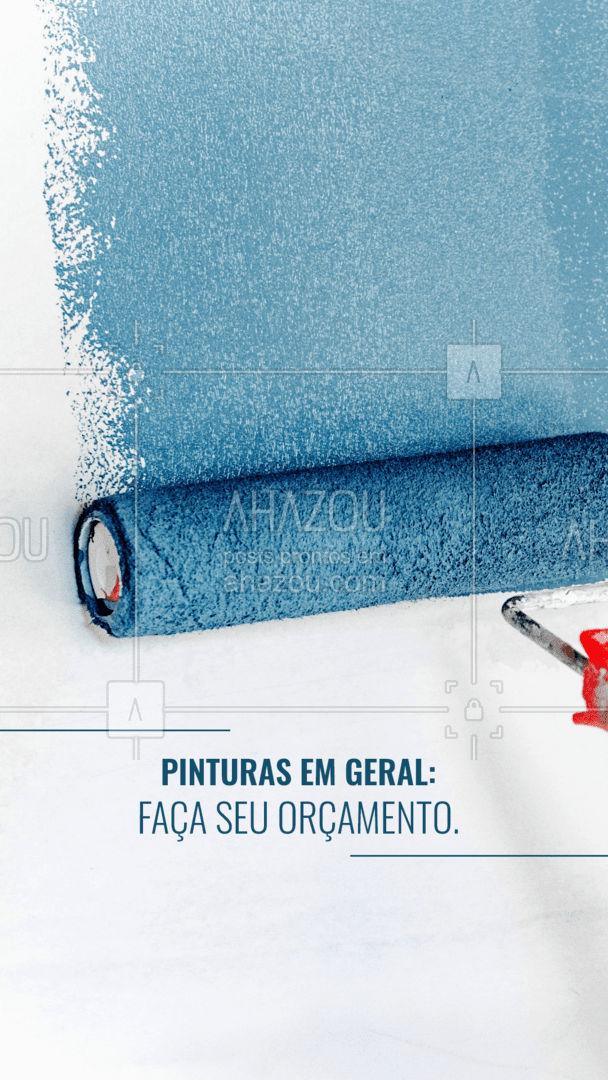Faço serviços de pintura em geral, serviço de qualidade. Faça já seu orçamento. #Pintar #AhazouServiços #Paredes