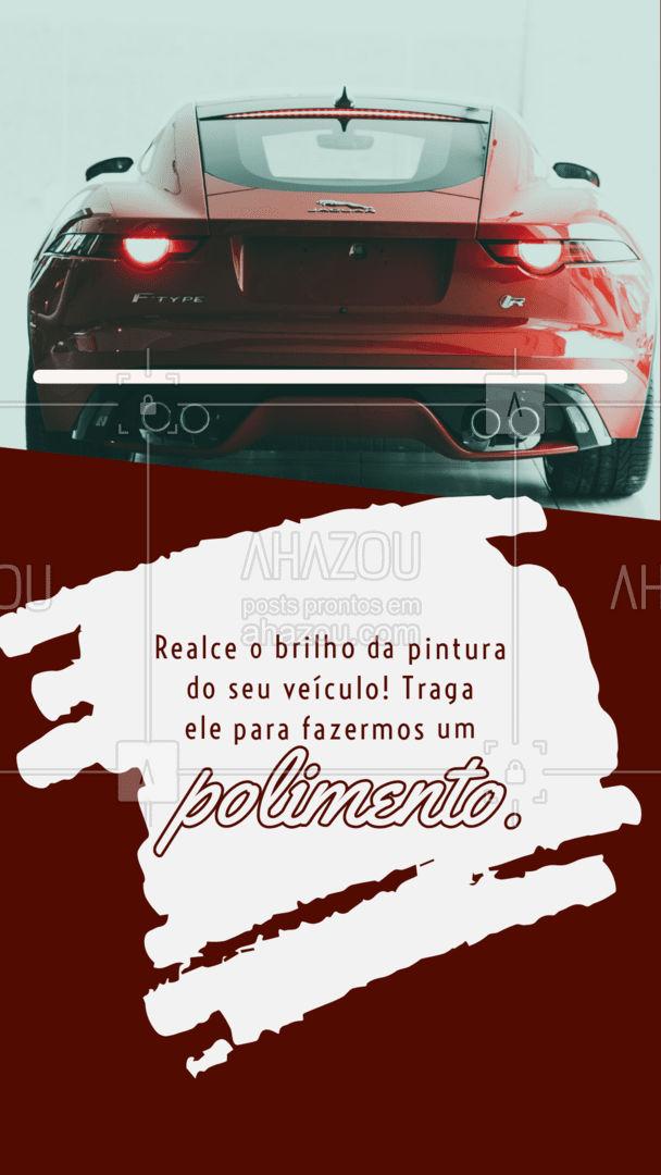 Cuide também da estética do seu carro! O polimento é uma proteção! Traga seu veículo.  #AhazouAuto #polimento #polir  #esteticaautomotiva #servicoautomotivo #carro #automotiva