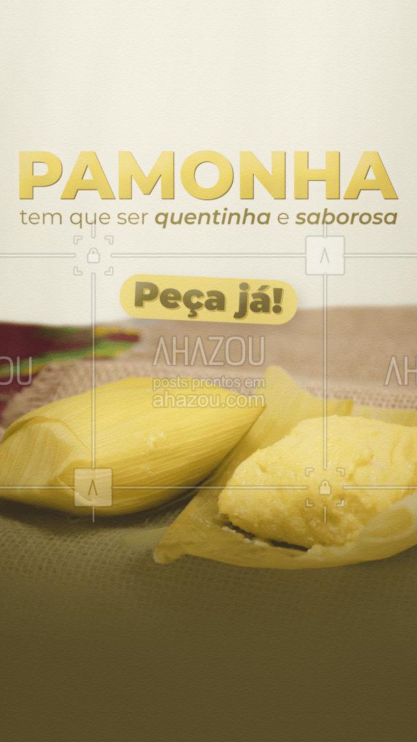 Quem não ama uma pamonha quentinha e deliciosa, não é mesmo? Peça agora! 🌽💛 #ahazoutaste #eat #ilovefood #instafood #foodlovers #milho #pamonha