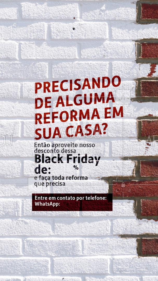 Aproveite que esse desconto é só nesta Black friday! Faça a reforma que precisa com um desconto especial para você! ?? #Desconto #Promo #ahazou #BlackFriday