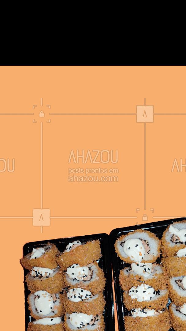 Preparado? Faça o seu pedido! 😎😍  #ahazoutaste #combo #hotroll #hotrollsalgado #hotrolldoce #promocao #comidajaponesa  #sushidelivery  #japanesefood