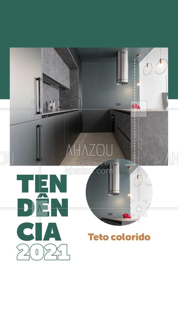 Teve um tempo em que a tendência era apenas uma das paredes ser colorida. Mas agora em 2021, a cor vai ficar no teto! E pode apostar nas cores vivas, viu?! Os tons frios trazem frescor e os tons quentes trazem seriedade e deixam o ambiente mais aconchegante.  E aí, vai apostar nessa tendência? Comenta aqui qual cor você pintaria o teto da sua casa ?   #dica #Tendência2021 #construtora #cores  #AhazouImobiliaria #AhazouConstrutora  #construturacivil #mercadoimobiliario #consultoriadeimoveis
