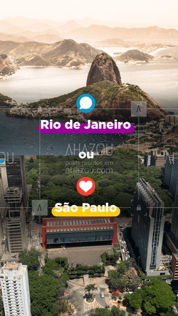Você prefere conhecer o Masp, Parque Ibirapuera, Catedral da Sé em São Paulo ou vistar o Cristo Redentor, Pão de Açúcar, Lapa entre outros lugares no Rio de Janeiro? Lembre-se de escolher seu lugar preferido e agendar sua viagem conosco! Pois temos ótimas opções para qual você preferir. ✈️ #RioDeJaneiro #Viagem #AhazouTravel #SaoPaulo