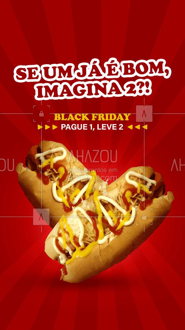 Um hot dog é  bom, mas dois é melhor ainda! PAGUE 1 e LEVE 2! Anota aí na agenda, ativa o lembrete no celular que vai rolar uma BLACK FRIDAY deliciosa por aqui e você não pode perder!!!??  #ahazoutaste #blackfriday  #hotdog #hotdoglovers #cachorroquente #food