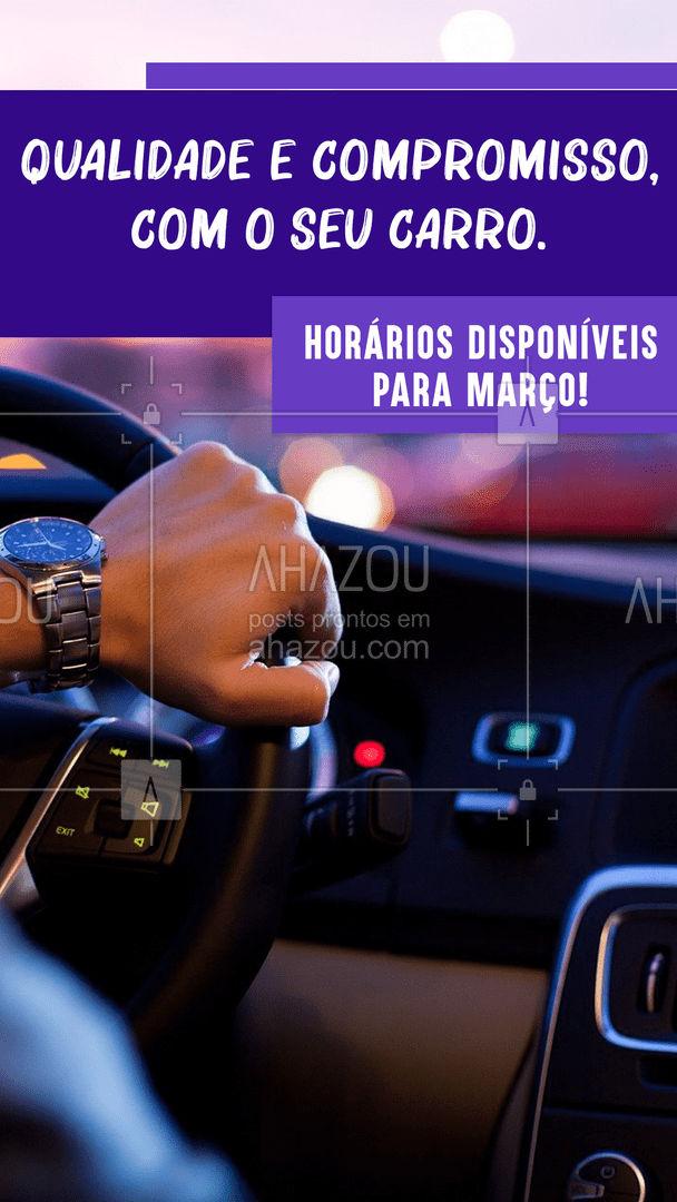 Toda qualidade e compromisso no cuidado com o seu carro. Agenda aberta para Março! ? #AhazouAuto  #eletricaautomotiva #carros #automotiva