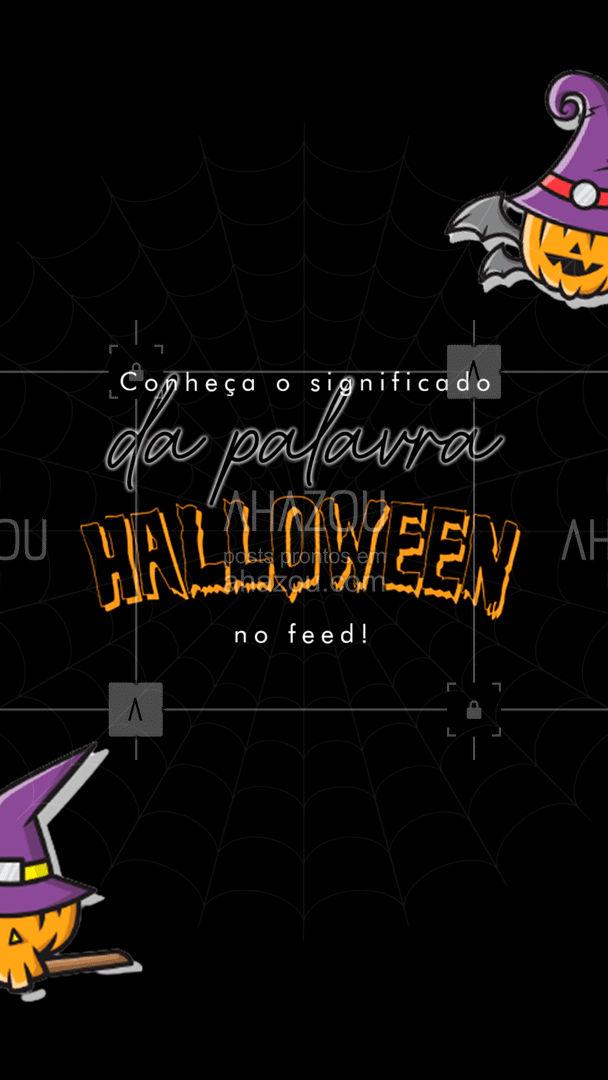 """Halloween é uma abreviação de """"All Hallows Eve"""" que em tradução direta fica """"noite de todos os santos"""". 👻🎃 #ahazou #halloween #curiosidadesobrehalloween #dicashalloween #diadasbruxas"""