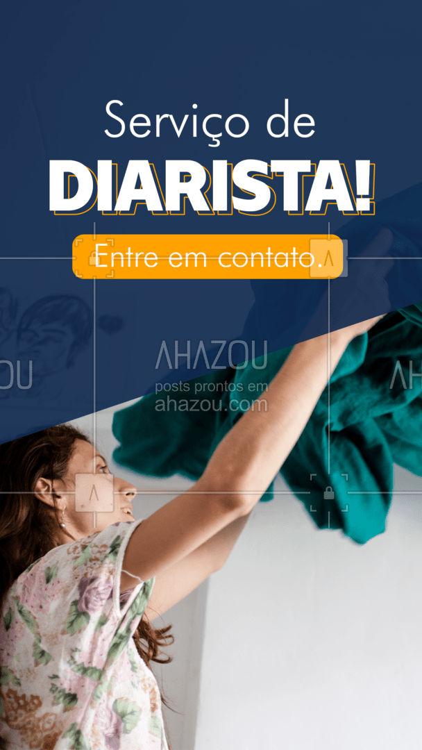 Contrate meus serviços! Qualidade e satisfação garantida! #AhazouServiços  #diarista #lar #casalimpa #limpeza #servicos