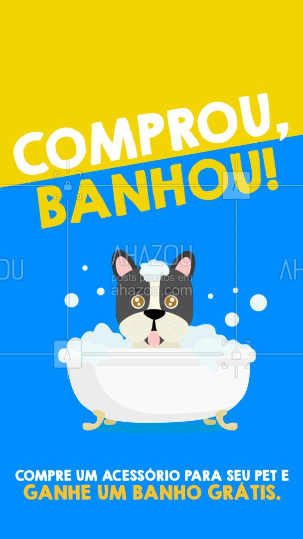 Além de ganhar um acessório para completar o look, seu pet também ganha um banho pra ficar cheirosinho ?  #banho #promoção #AhazouPet  #dogs  #petlovers #semanadoconsumidor #pets