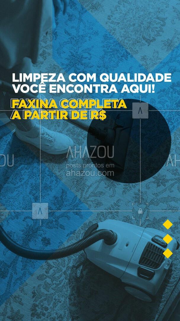 Não deixe para depois a faxina que você pode contratar hoje! ? #faxina #faxineira #AhazouServiços #faxinacompleta #serviçospracasa