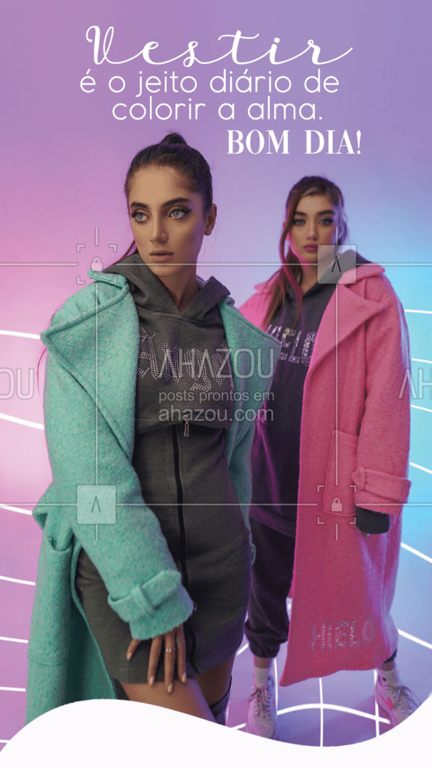 E aí, que cor terá a sua alma hoje? 🤔 #bomdia #moda #AhazouFashion  #style  #outfit  #fashion