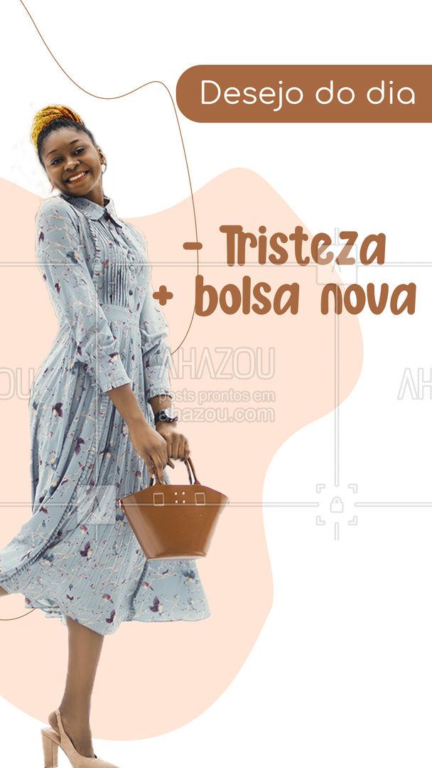 Qualquer dia fica ainda melhor com uma bolsa nova, não é mesmo? Confira a nossa coleção e garanta já a sua felicidade ?! #fashionista #fashion #moda #AhazouFashion #tendencia #acessorios #estilo #bolsa #bolsas