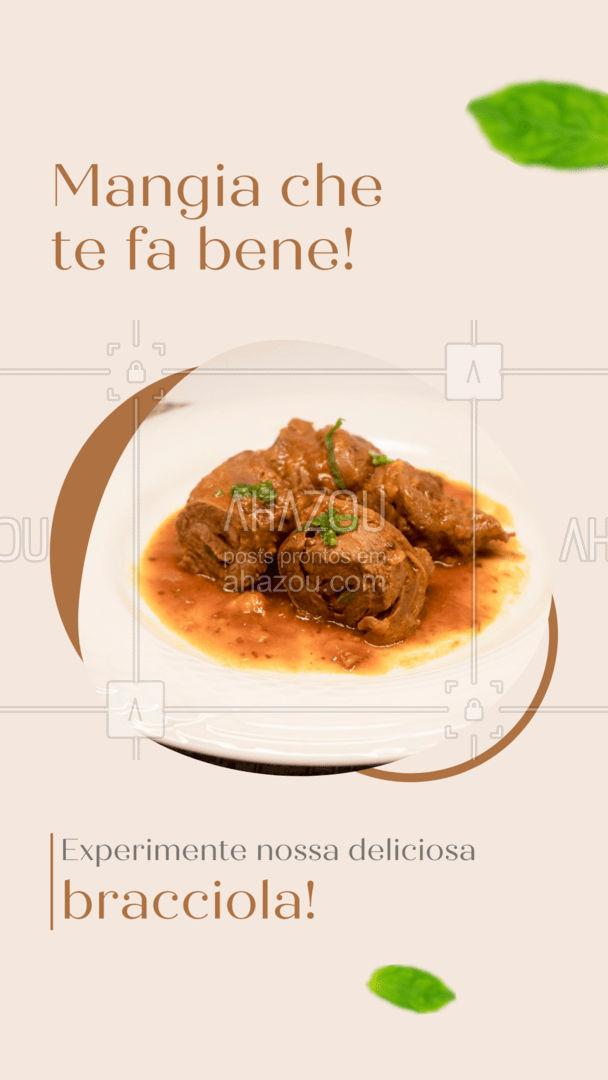 Mamma mia! Uma bracciola dessa não dá para resistir! Entre em contato e peça já a sua! #restauranteitaliano #comidaitaliana #ahazoutaste #italianfood #italy #cozinhaitaliana #bracciola