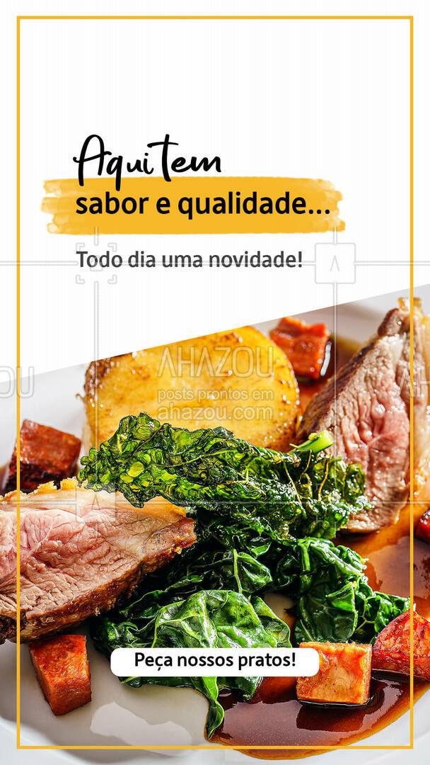 Sabor e qualidade tem aqui! Venha provar nossas delícias! ?  #ahazoutaste  #restaurante #foodlovers #alacarte #selfservice