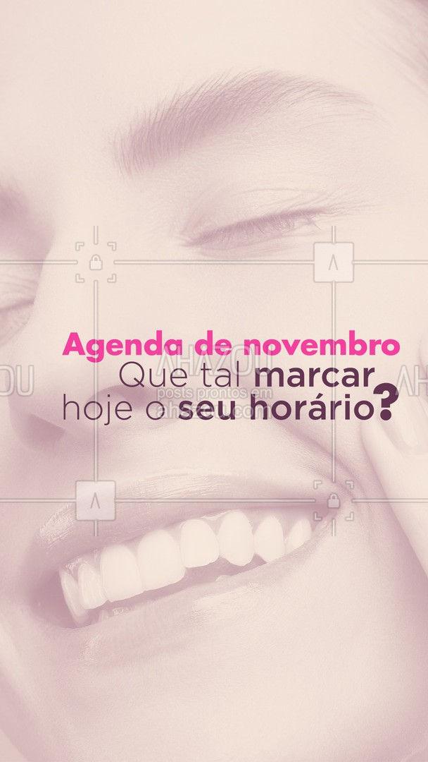 Deixe seu horário reservado para não correr o risco de ficar sem! #agenda #agendaaberta #novembro #ahazoubeauty #estetica #beauty #beleza