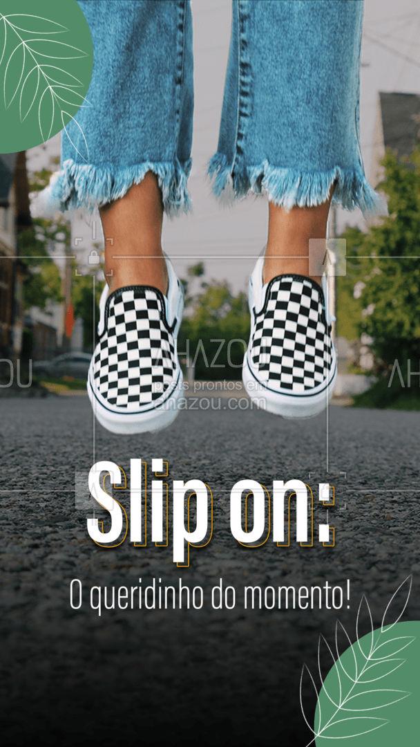 Pratico confortável e muito estiloso, o slip on combina com praticamente tudo, do jeans básico ao vestidinho. Com os mais diversos materiais e estampas seu look vai ficar muito mais moderno com eles! #fashionista #fashion #moda #modafeminina #AhazouFashion #tendencia #lookdodia #sapatos #slipon