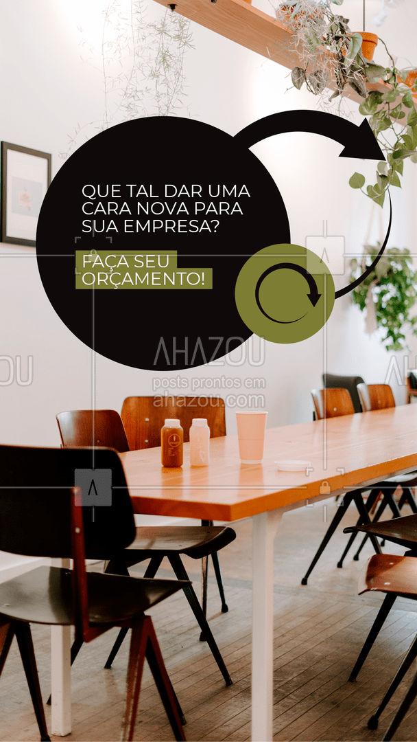 Cansado do design da sua empresa? Nós resolvemos isso! Faça seu orçamento 😁 #orçamento #AhazouDecora #AhazouArquitetura #designdeinteriores  #homedecor  #decoracao  #arquiteto  #arquitetura