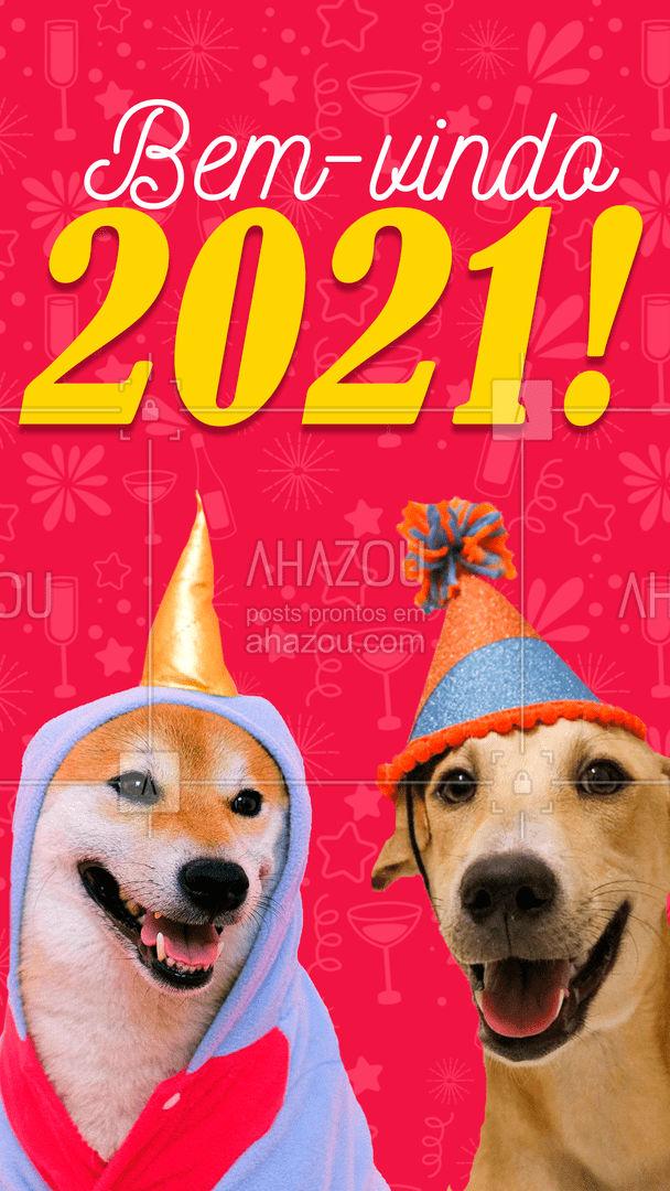 Que nesse ano venham mais passeios e petiscos! ??   #AhazouPet #anonovo #2021 #cachorro #gato #pet