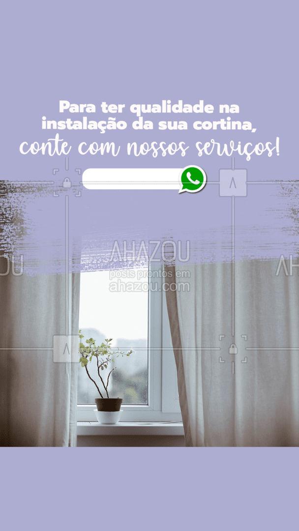 Tenha qualidade e rapidez na instalação da sua cortina com nossos serviços! #AhazouServiços #manutençao #serviços #maridodealuguel #instalaçãodecortinas