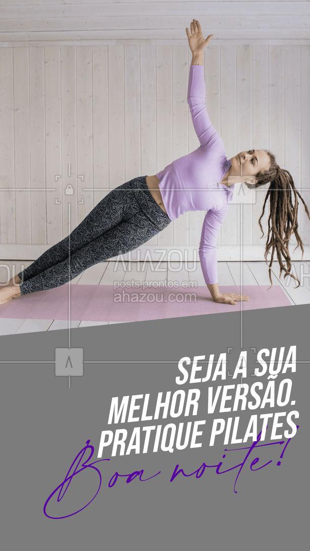Faça pilates e se supere a cada dia. Seja melhor do que você costumava ser!✨ #boanoite #pilates #AhazouSaude #workout  #fitness  #pilateslovers  #pilatesbody