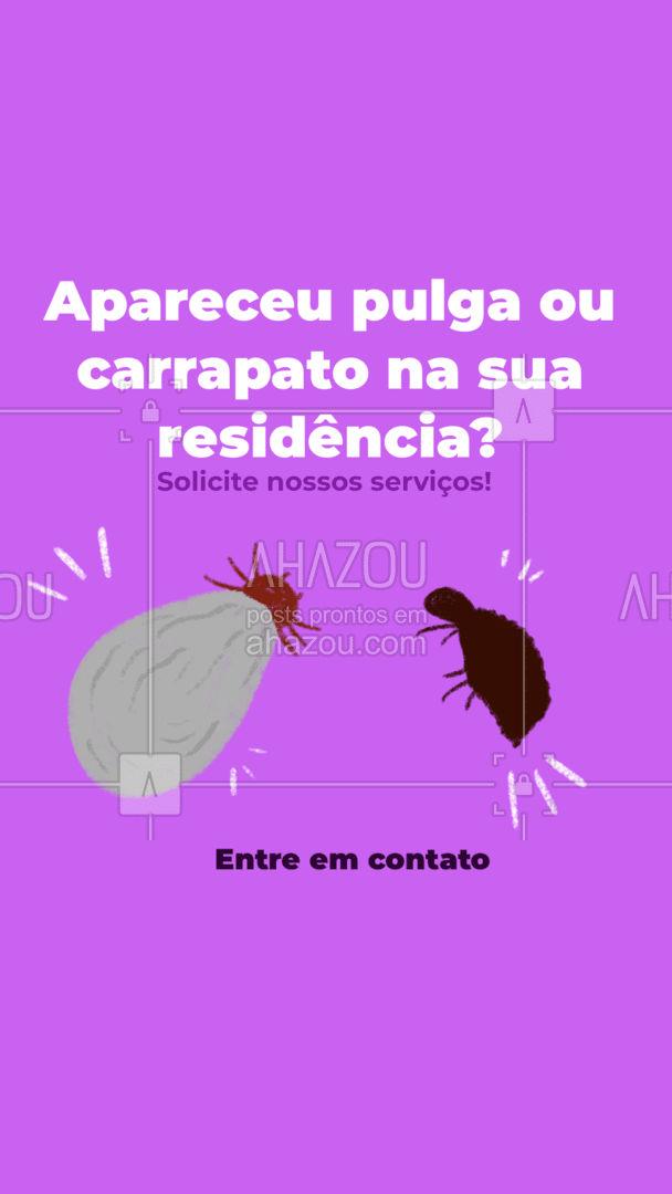 Acabe com seus problemas, fale comigo! ? (preencher) #AhazouServiços #ddt #dedetização #pragas #controledepragas #pulgas #carrapatos #residência #problemas #entreemcontato