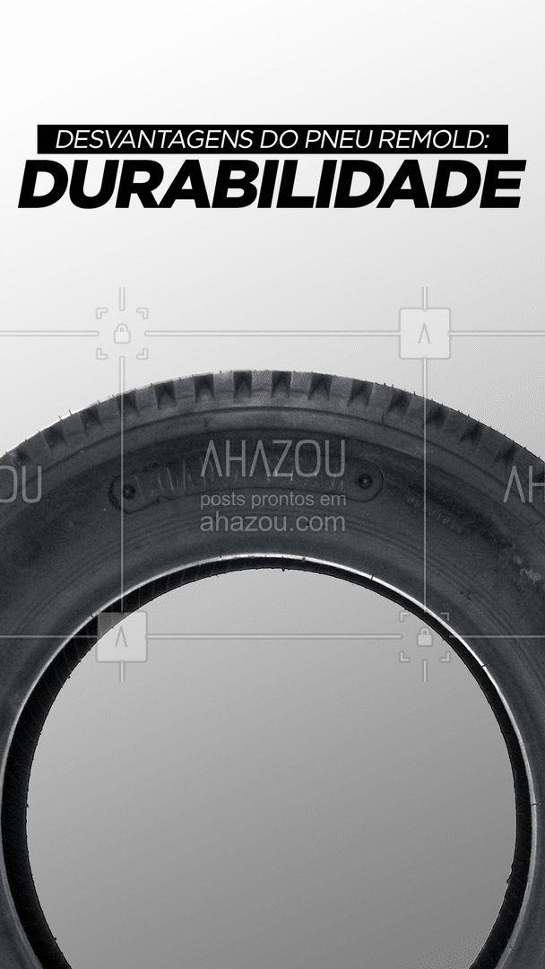A durabilidade de um pneu remold é de 15%  e 30% a menos do que um modelo novo. Tudo isso depende da forma de condução do veículo e cuidado. Os pneus remold são mais indicados para perímetros urbanos, pois em rodovias pode sofrer instabilidade, especialmente em curvas. ??  #AhazouAuto  #mecanicoautomotivo #mecanicadecarros #manutencacaodecarros #carros #pneusremold