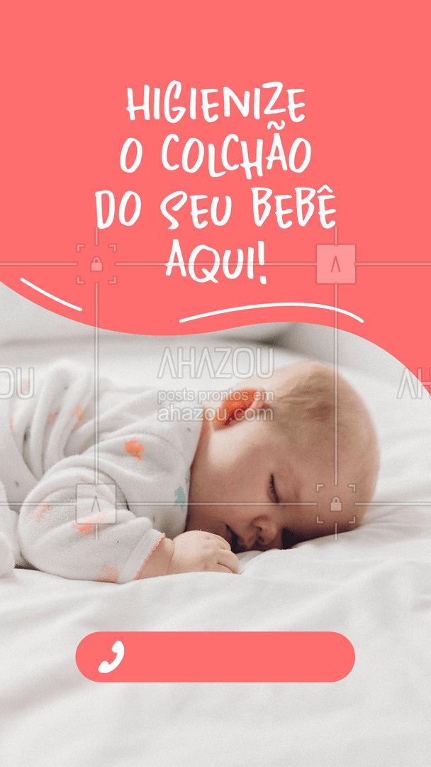 Traga o colchão do seu bebê para nós! Entre em contato: ?(preencher) #AhazouServiços #higienização #limpeza #colchão #colchãohigienizado