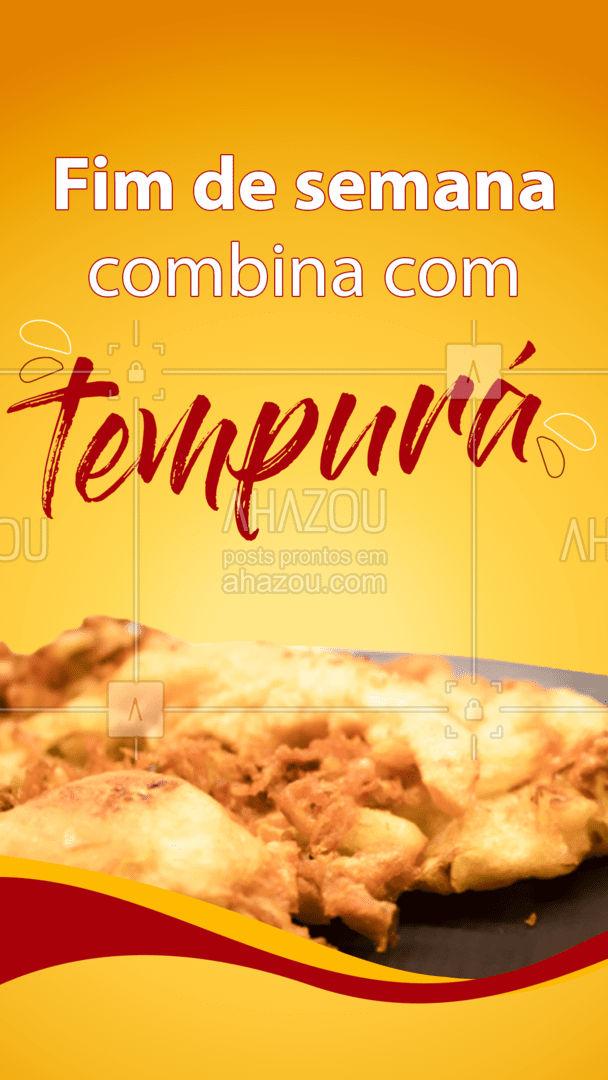 Para deixar o seu final de semana ainda melhor é só pedir o nosso delicioso Tempurá! ? #ahazoutaste  #japa #japanesefood #comidajaponesa #tempura