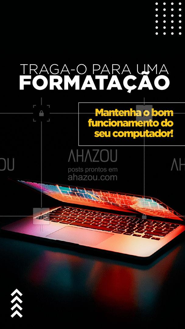 Formatamos PC e Notebooks! Só entrar em contato para mais informações!  #AhazouTec  #formatar  #computador #computadores #AssistenciaTecnica