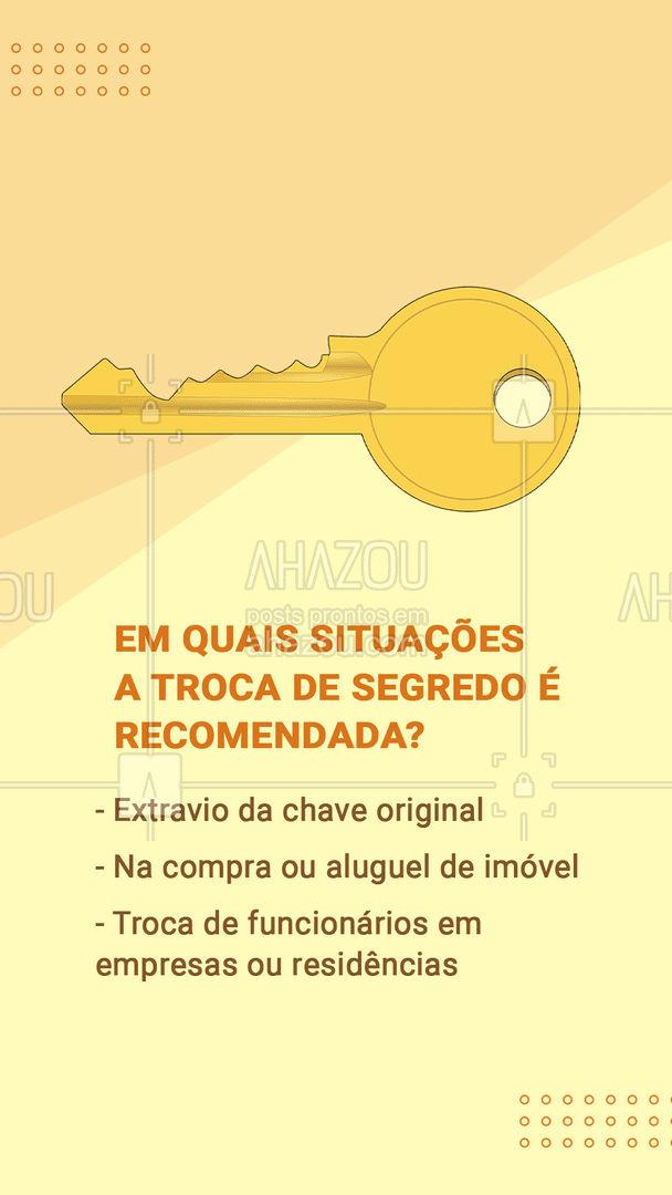 Mantenha a segurança da sua casa e bens! #chave #ahazou #AhazouServiços  #chaveiro