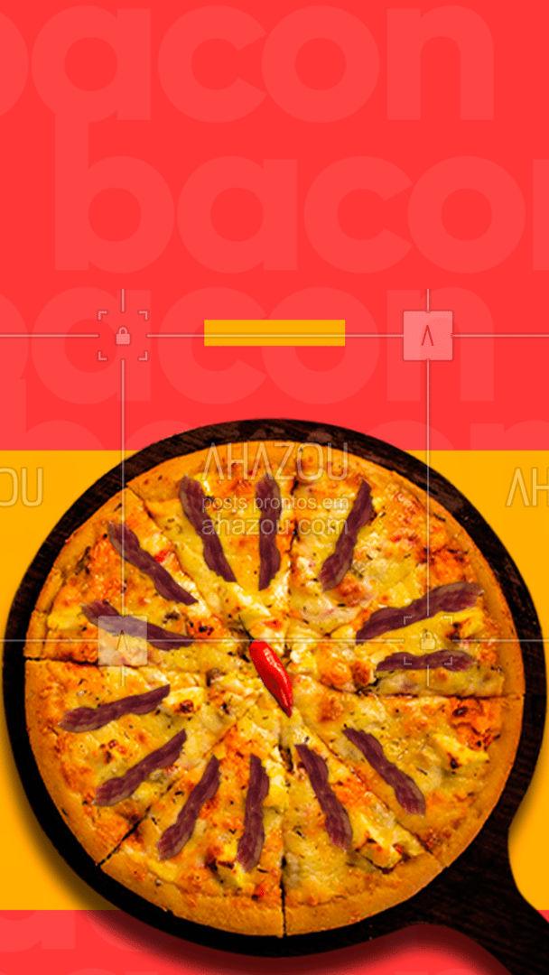 Qual vai ser o seu?🥓🤤 #ahazoutaste #diadobacon #promocao #frase #oferta  #pizzaria  #pizza  #pizzalovers #bacon&pizza