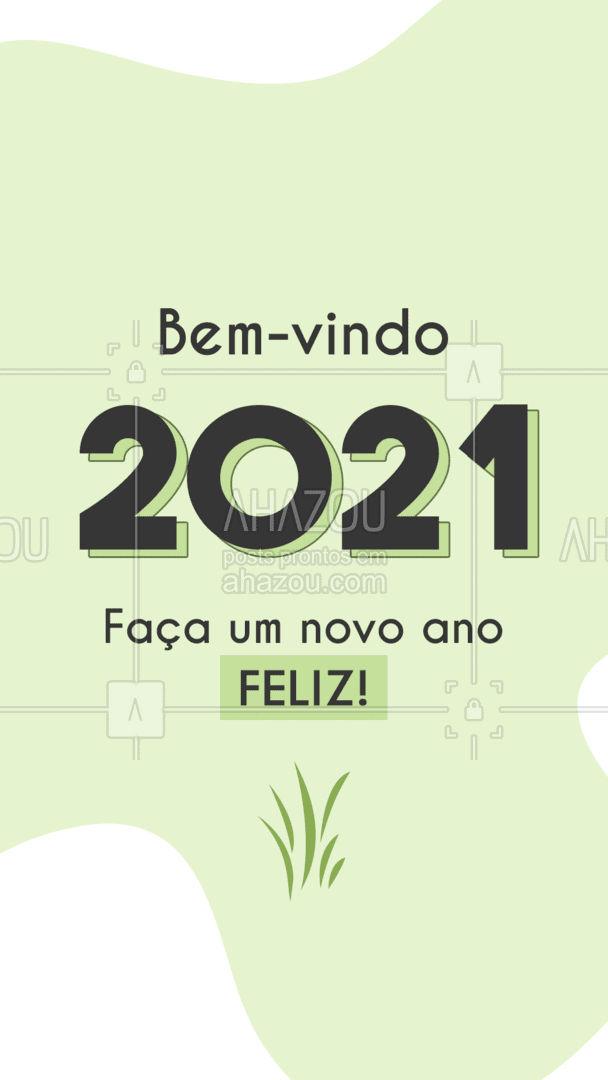 Faça o seu 2021 ser muito melhor! Dê o seu melhor, plante o bem que o resto vem! Muita saúde a todos, e seja muito bem-vindo 2021. ?? #AhazouSaude #anonovo  #qualidadedevida #viverbem #bemestar #cuidese #saude #bemvindo2021