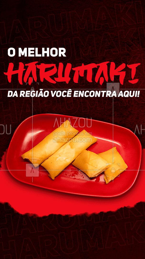 Crocante, sequinho e muito saboroso! Experimente o melhor harumaki da região! Entre em contato e peça já o seu! #japa #japanesefood #ahazoutaste #comidajaponesa #harumaki