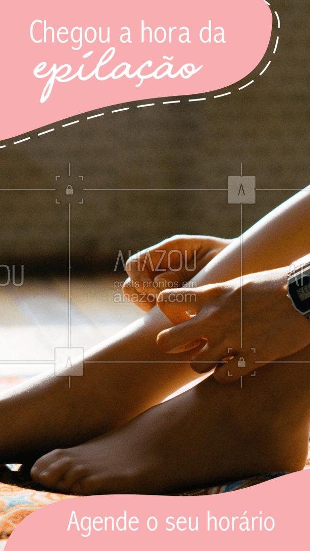? Nossa agenda está aberta: (inserir contato)   #Epilação #AhazouBeauty #Beauty #BelezaeEstetica #Estetica #PeleLisinha #AgendaAberta #AhazouBeauty