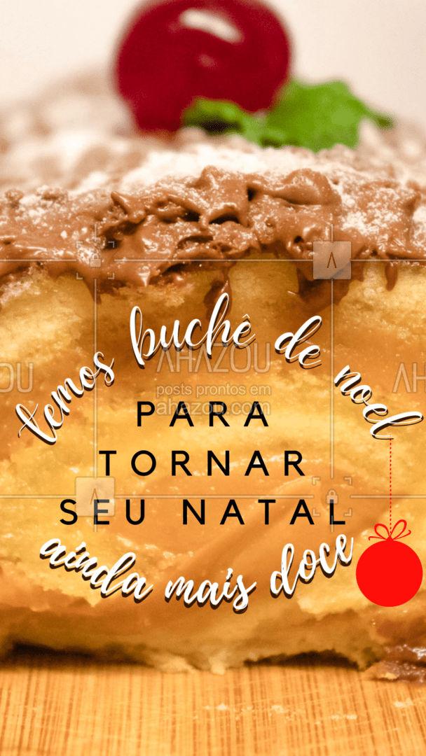 Comemore o Natal da forma mais doce possível, e com isso, eu quero dizer para você experimentar esse belo rocambole! ?? Encomende o seu ? (inserir telefone) #confeitaria #doces #ahazoutaste #confeitariaartesanal #docinhos