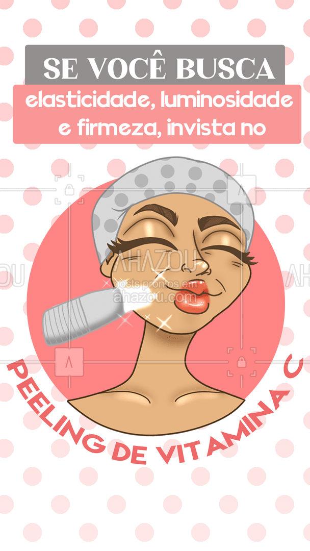 Com o Peeling de Vitamina C você ainda garante renovação celular sem descamação e clareamento de manchas! 🥰 #peeling #peelingdevitaminac #AhazouBeauty  #esteticafacial  #limpezadepele  #beleza