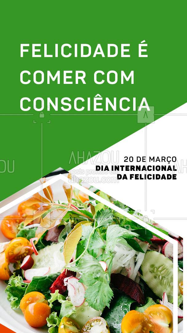 Aproveite o dia de hoje para pedir um almoço livre de crueldade! #DiaInternacionaldaFelicidade #vegetariano #ahazoutaste #vegan #veggie #crueltyfree