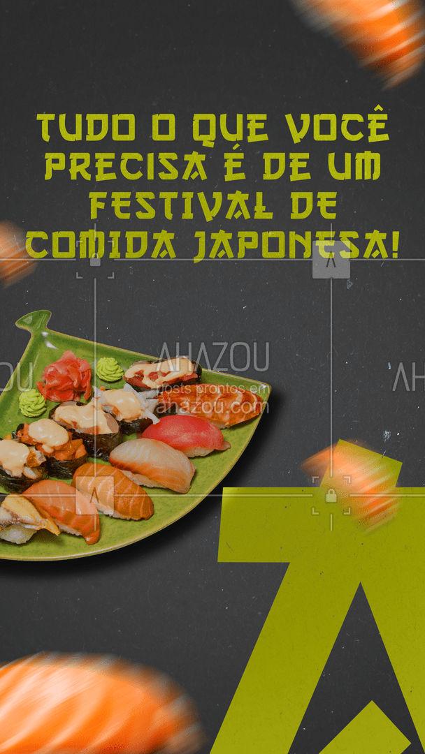 Com certeza isso vai deixar o seu dia 2000% melhor. Vamos tirar a prova? ??  #japa #festival #comidajaponesa #ahazoutaste  #sushitime #japanesefood #sushilovers