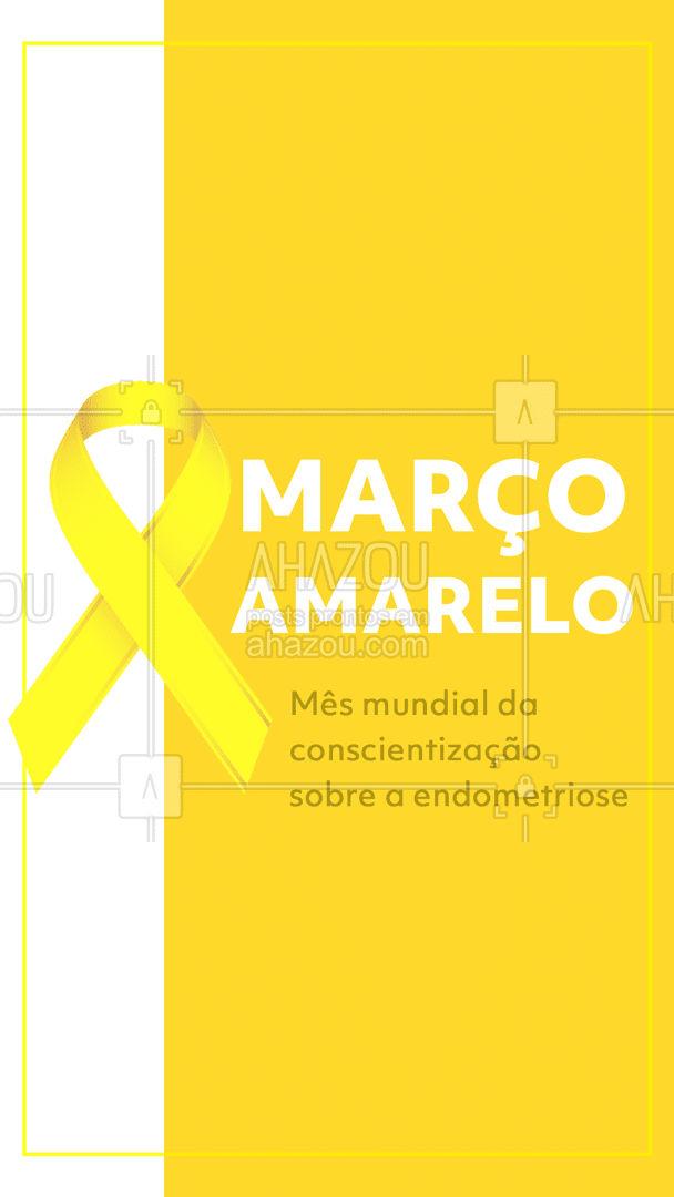 Não deixe sua saúde em último lugar! Aproveite o mês de março amarelo para se informar e se prevenir #março #marçoamarelo #ahazou #prevenção #cuidados
