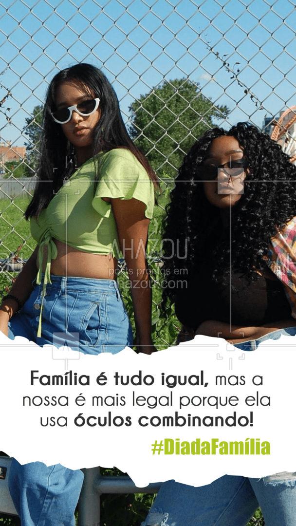E aí, bora deixar essa família de óculos combinando?   #diadafamilia #familia #AhazouÓticas #oticas #oculos