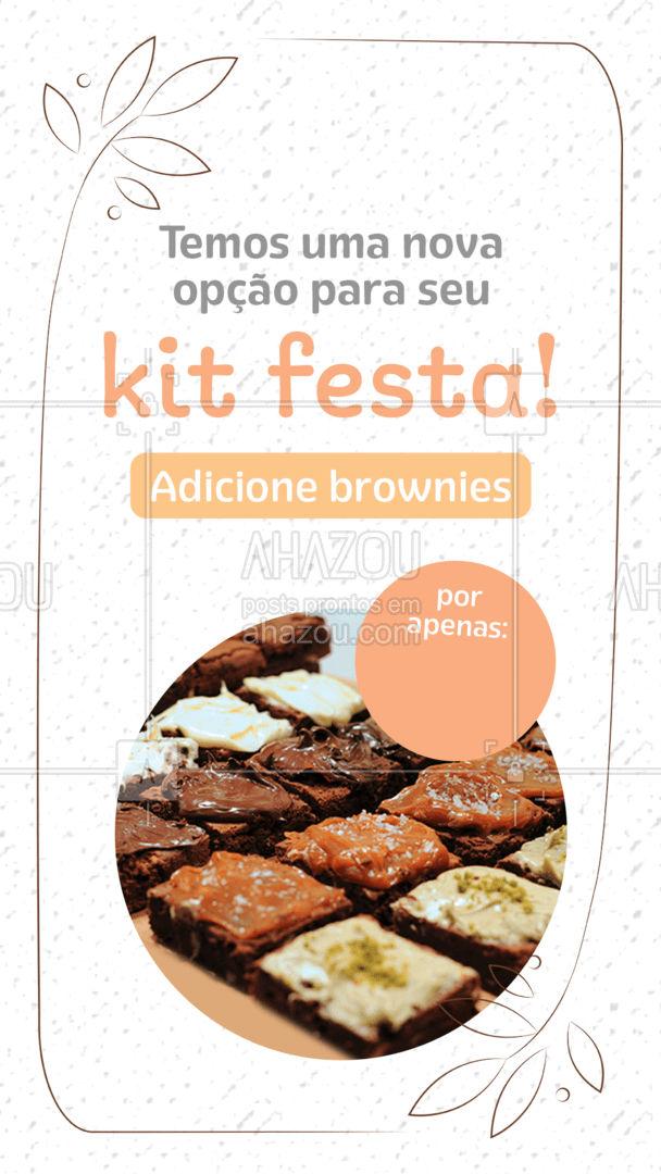 Fuja do kit tradicional e surpreenda seus convidados com um doce delicioso e apaixonante!  #ahazoutaste   #foodlovers #docinhos #kitfesta #confeitaria