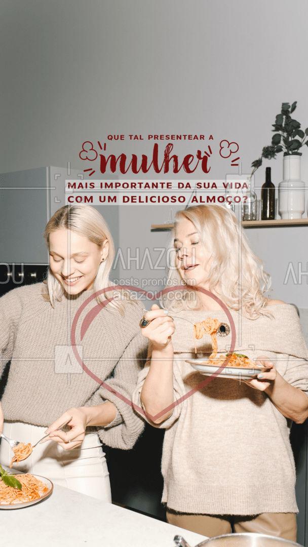 Neste Dia das Mãe mostre à sua mãe o quanto ela é especial. Temos deliciosas opções de pratos para tornar este dia inesquecível. Entre em contato. #diadasmaes #ahazoutaste  #gastronomia  #gastronomy  #foodie  #foodlover  #culinaria  #instafood