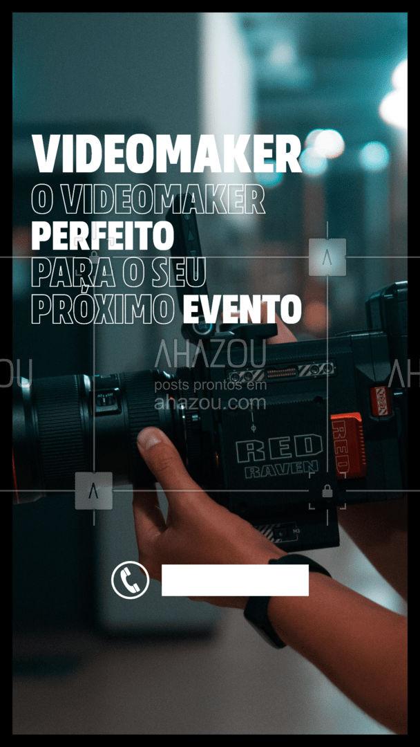 Basta ligar e fazer o seu orçamento! Seu próximo evento todo filmado e editado para você. Contrate um videomaker. #VideoMaker #ahazoufotografia  #editaveisahz