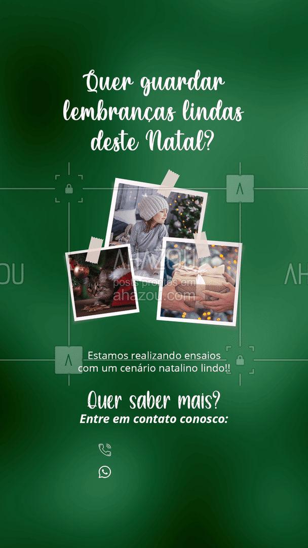 Tenha lindas lembranças deste fim de ano com um ensaio especial de natal! Quer saber mais? Entre em contato conosco. ??? #Fotografia #Natal #ahznoel #ahazoufotografia #Ensaio #ahazoufotografia
