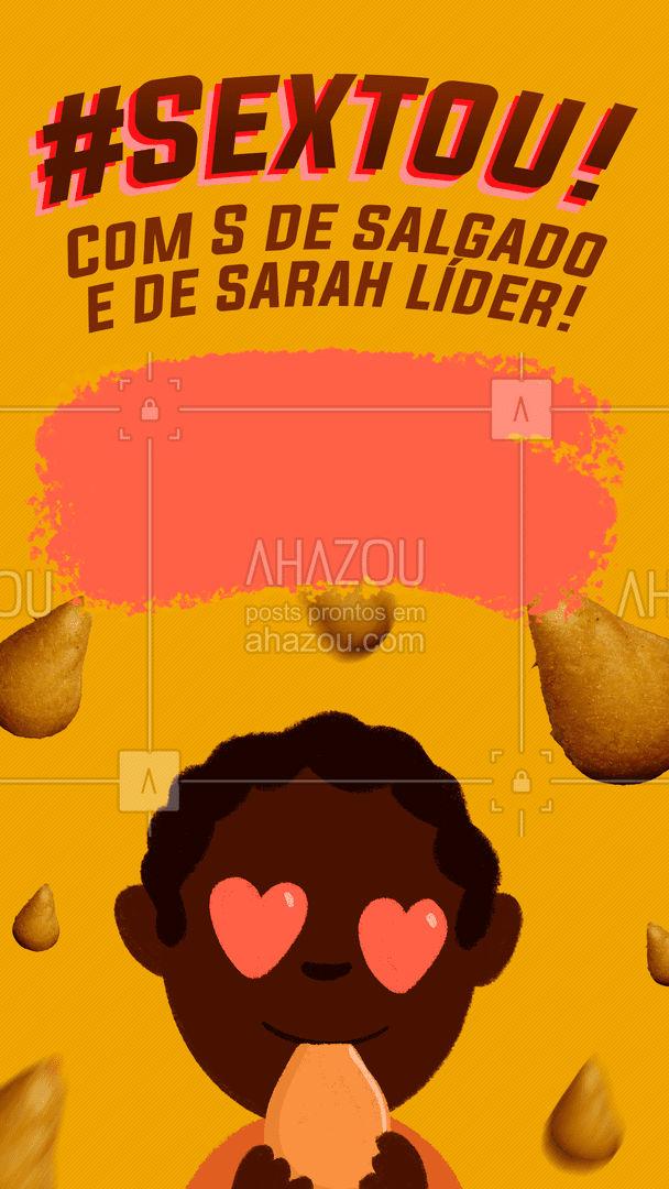 Para comemorar que a Sarah é líder nessa linda sexta-feira, preparamos essa promoção deliciosa de salgados para você! Faça seu pedido hoje e aproveite. ? #bbb #sarah #sarahlider #salgados #ahazoutaste #kitfesta #foodlovers