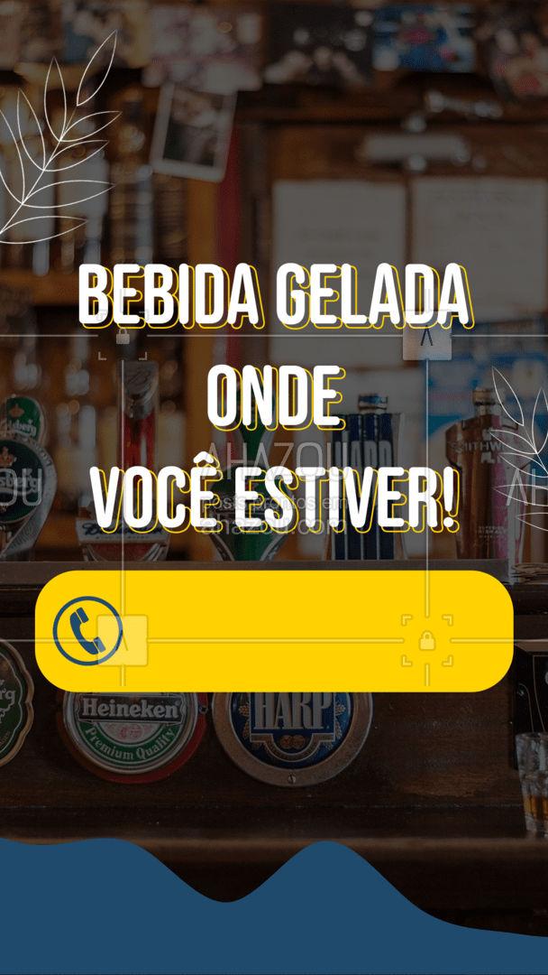 Precisou de bebida gelada mas só quer sair no portão de casa? É pra já! #ahazoutaste  #bar #pub #delivery #bebida