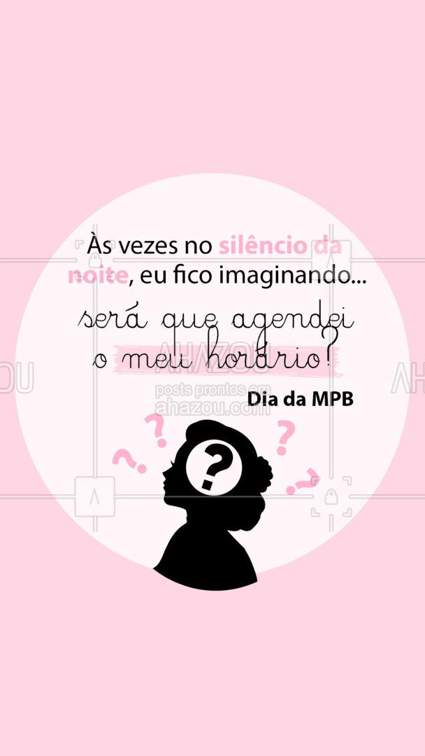 Quem nunca fica pensando nisso a noite, né?! ???  #DiadaMPB #CaetanoVeloso #AhazouBeauty #Beleza