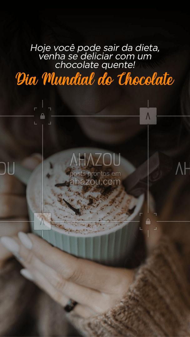 Já pediu seu chocolate? Aproveite essa data e peça já.☕?  #Diamundialdochocolate #ahazoutaste #chocolate #doces #chocolatequente #padaria  #cafedamanha