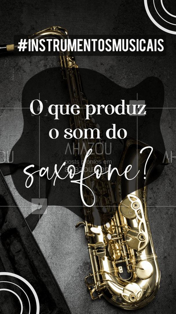 O som do saxofone é produzido pela palheta, que é vibrada pelo ar ao soprarmos. A palheta é como se fossem as cordas do saxofone! #saxofone #sopro #AhazouEdu  #música #instrumentos #aulademusica