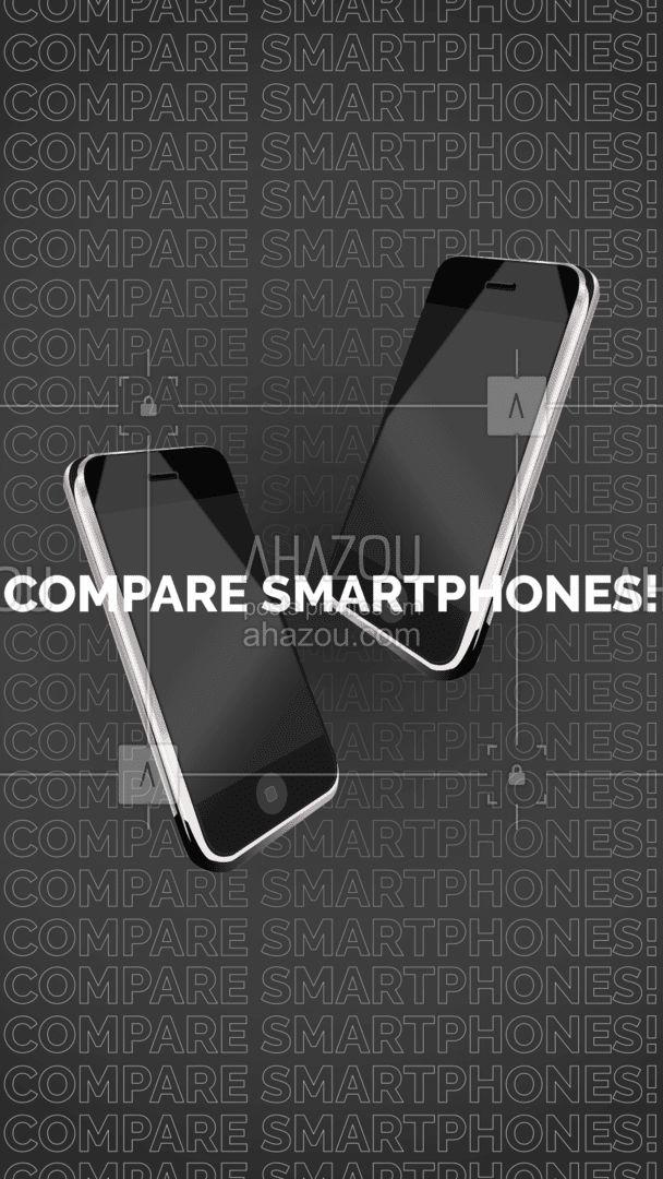 Tem alguns modelos em mente mas está na dúvida de qual celular irá escolher? Então abra a ficha técnica de cada um deles e compare! Entre telas, câmeras, processador e claro: preço.  #Smartphone #AhazouTec #Celular